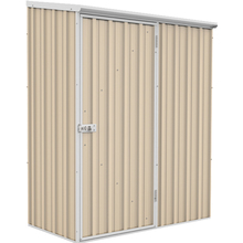 Spacesaver Garden Shed 1.52m x 0.78m in Classic Cream