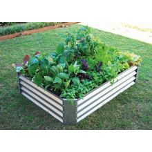 Free Raised Rectangular Garden Bed in Zinc- 120cmL x 90cmW x 28cmH