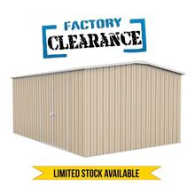 Factory Clearance - Garden Shed Cream 4.48m x 3m x 2.06m