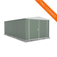 Factory Clearance - Garden Shed 3m x 5.22m in Green