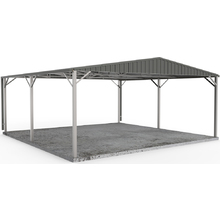 Carport 6m x 6m W50 in Woodland Grey