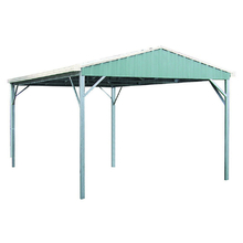 Spanbilt YardPro Double Carport Gable Roof 5.6m x 5.4m x 2.4m Zinc