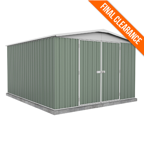 Factory Clearance - Garden Shed Green 3m x 3.66m x 2.06m