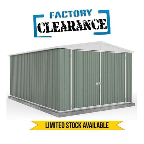 Factory Clearance - Garden Shed Green 3m x 5.22m x 2.06m