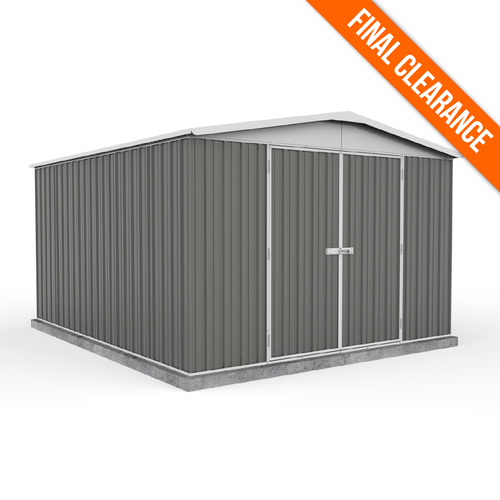 Factory Clearance - Garden Shed 3m x 3.66m in Woodland Grey