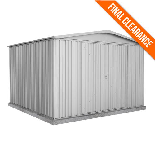 Factory Clearance -Garden Shed 2.98m x 2.92m x 2.06m in Zinc