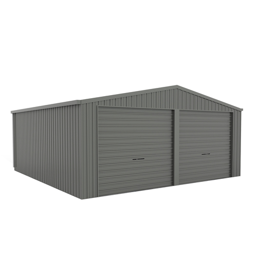 Eco Range Double Garage 6m x 6m x 3.02m Roller Door Grey
