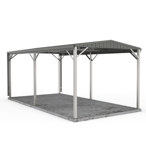 Carport 3m x 6m W50 in Woodland Grey