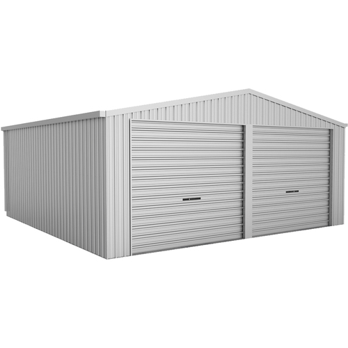 Absco Zincalume 6m x 6m x 3.02m Twin Roller Door W33N2 Garage